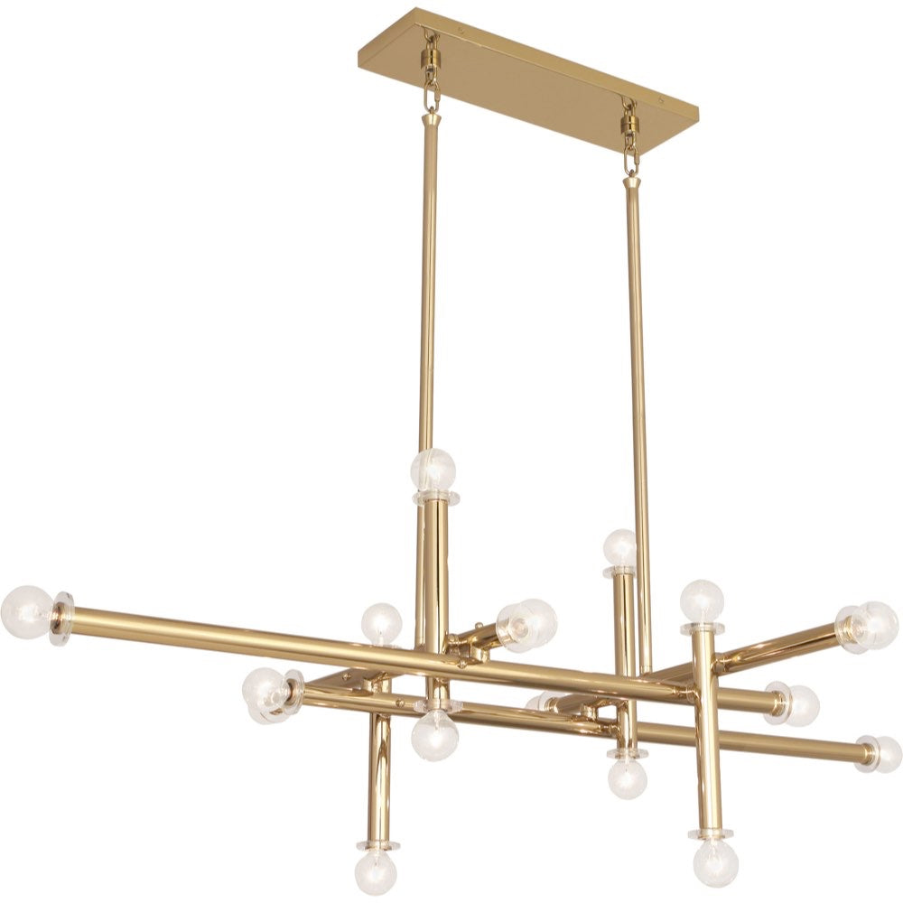 robert abbey milano chandleier with lucite brass jonathan adler