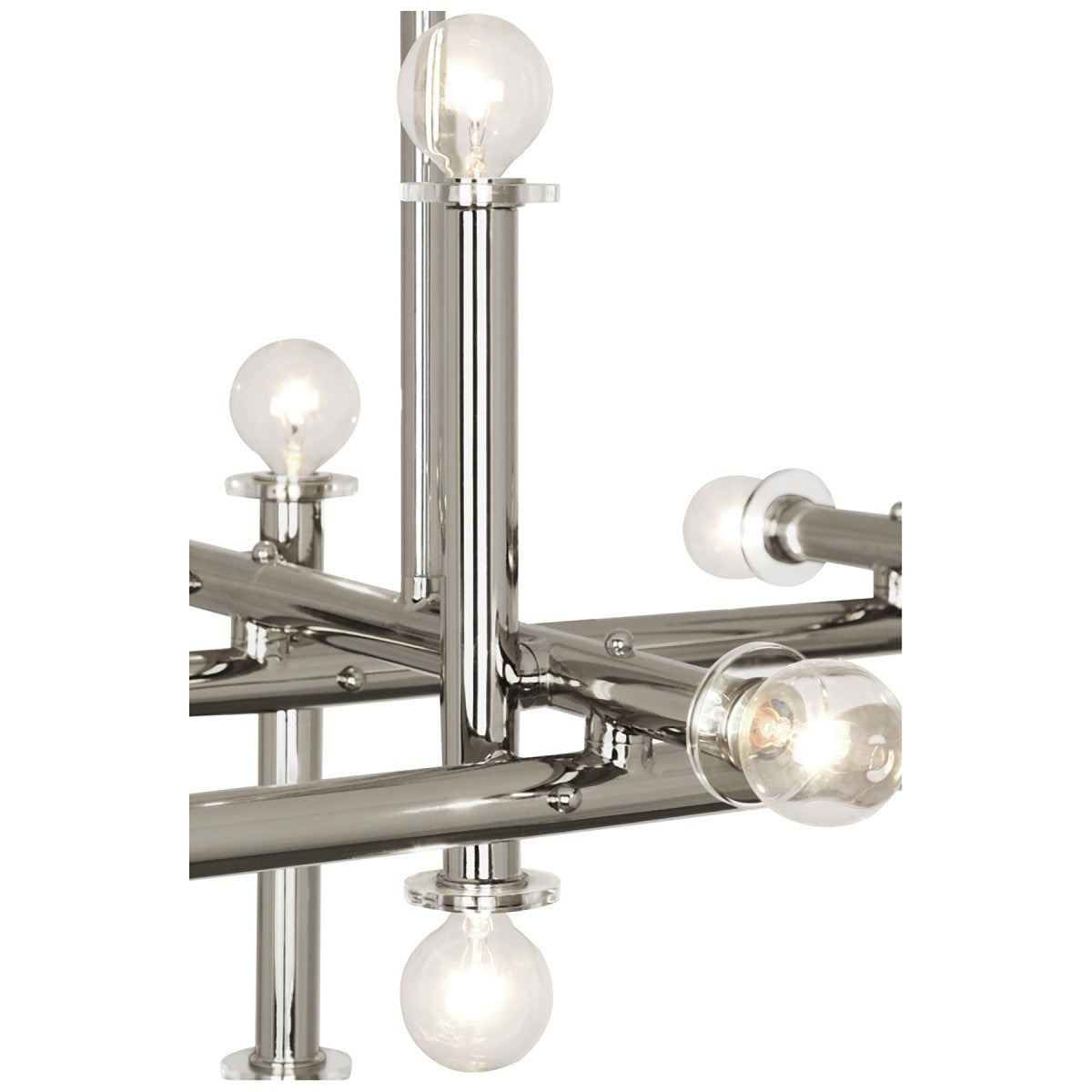 jonathan adler milano chandelier nickel with lucite detail
