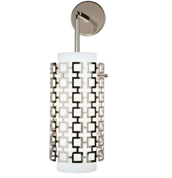 Robert Abbey Parker Wall Sconce Polished Nickel Silver