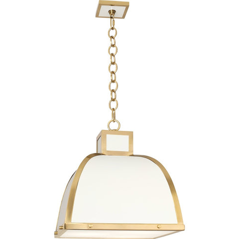 robert abbey ranger pendant white and brass