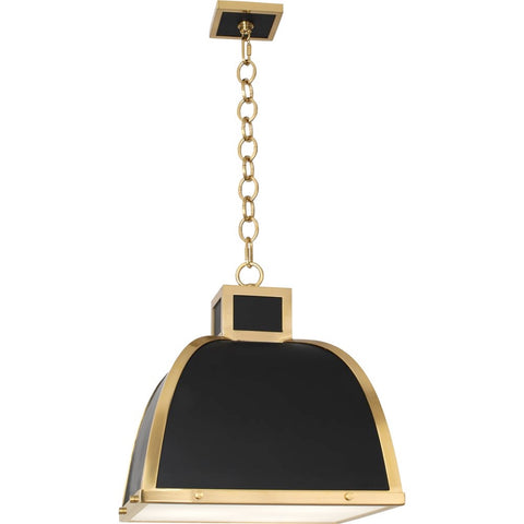robert abbey ranger pendant matte black and modern brass
