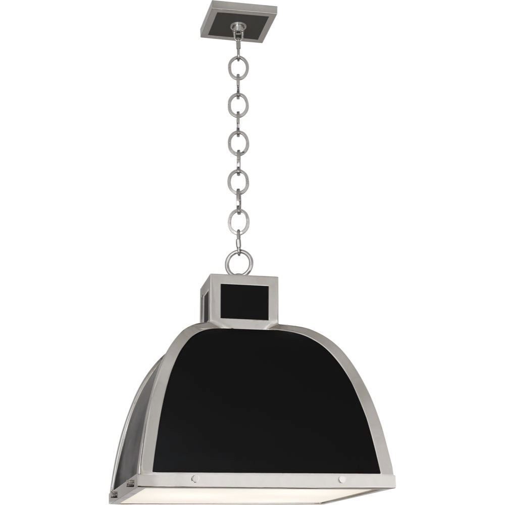 robert abbey ranger pendant matte black and polished nickel