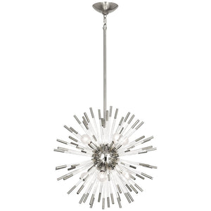 robert abbey small andromeda chandelier polished nickel