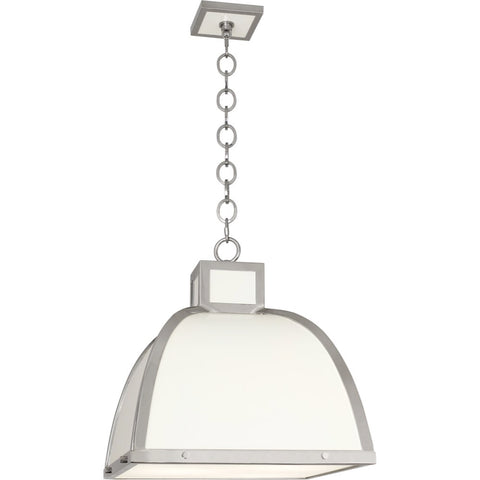 robert abbey ranger pendant white polished nickel