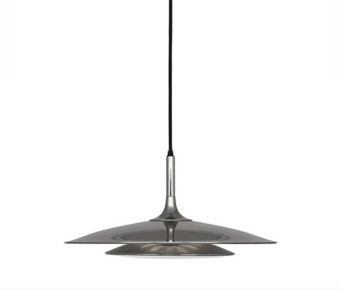 Robert Abbey Axiom Pendant Polished Nickel Lighting Metal