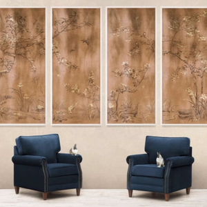 Natural Curiosities Rococo Gold and Bronze 3 Art Work Wall