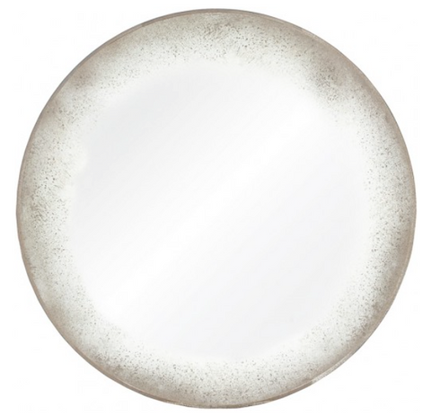 Mirror Image Home Round Antiqued Mirror Round Hanging