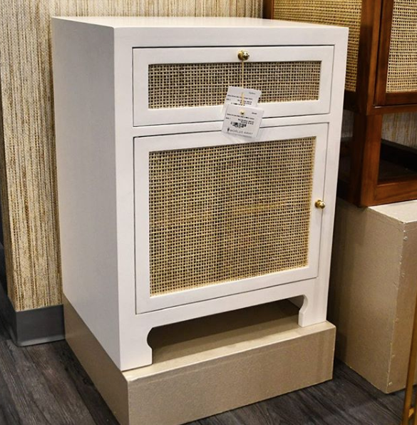 worlds away ruth one door cabinet white lacquer market