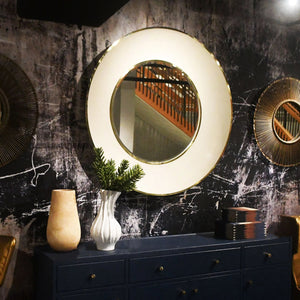 Armond Mirror Snow and Brass