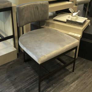 worlds away shaw dining chair brass gray velvet seating