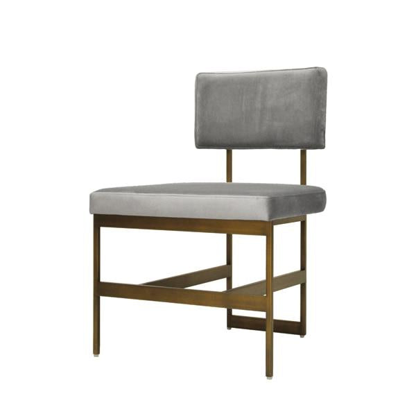 worlds away shaw chair grey and brass