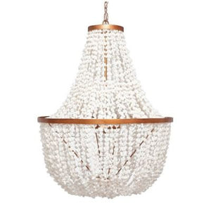 made goods silvana chandelier brass shell white metal