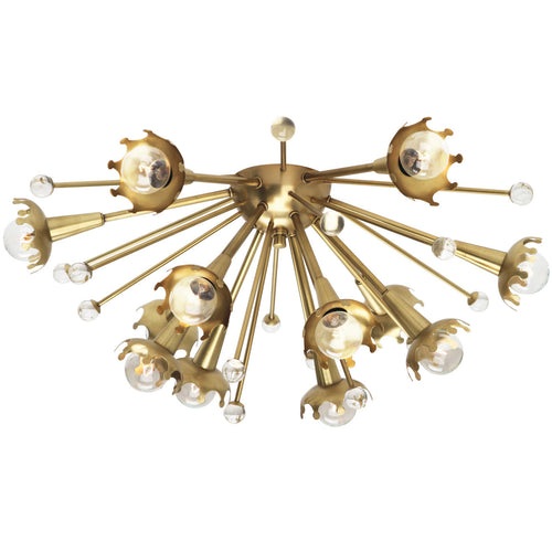 jonathan adler sputnik flush mount lamp 22033 flush mount, ceiling light, ceiling fixture, brass