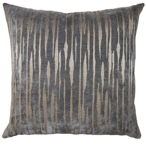 square feathers smokey shattered pillow