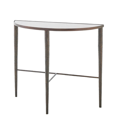 studio a hammered console table bronze