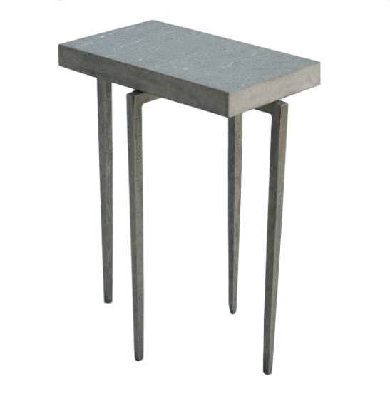 Studio A Laforge Accent Table Natural Iron with Flamed Granite