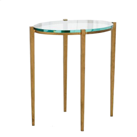 studioa a petite oval accent table antique gold