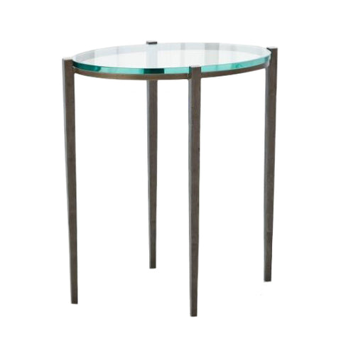 studio a petite oval accent table natural iron tearsheet