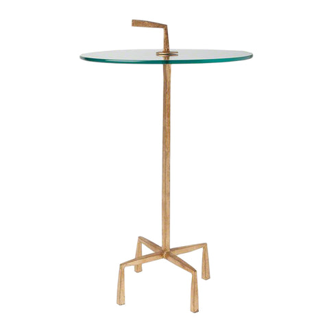 quad pod accent table gold