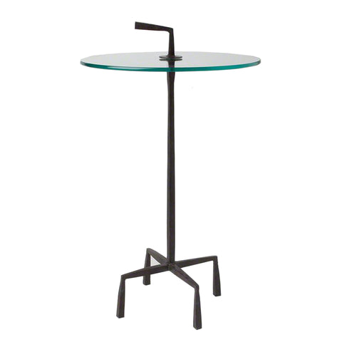 studio a quad pod accent table natural iron tearsheet