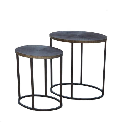 studioa a striated accent tables