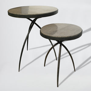 studio a tripod table grey marble top