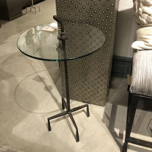 studio a quad pod accent table natural iron market