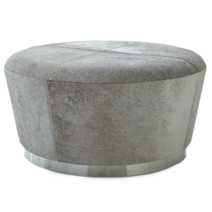 Studio A Tapered Ottoman Grey Hairon Hair and Hide Pouf