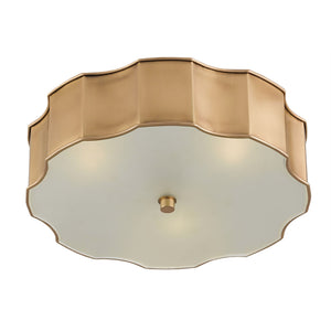 currey and company wexford flush mount brass bottom view