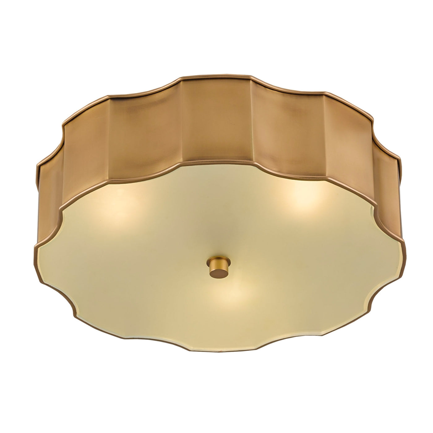 currey and company wexford flush mount brass bottom view illuminated