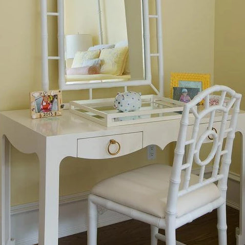 bungalow 5 chloe side chair white desk seating