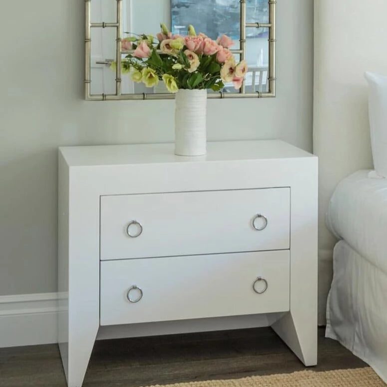 worlds away easton white side table nickel market