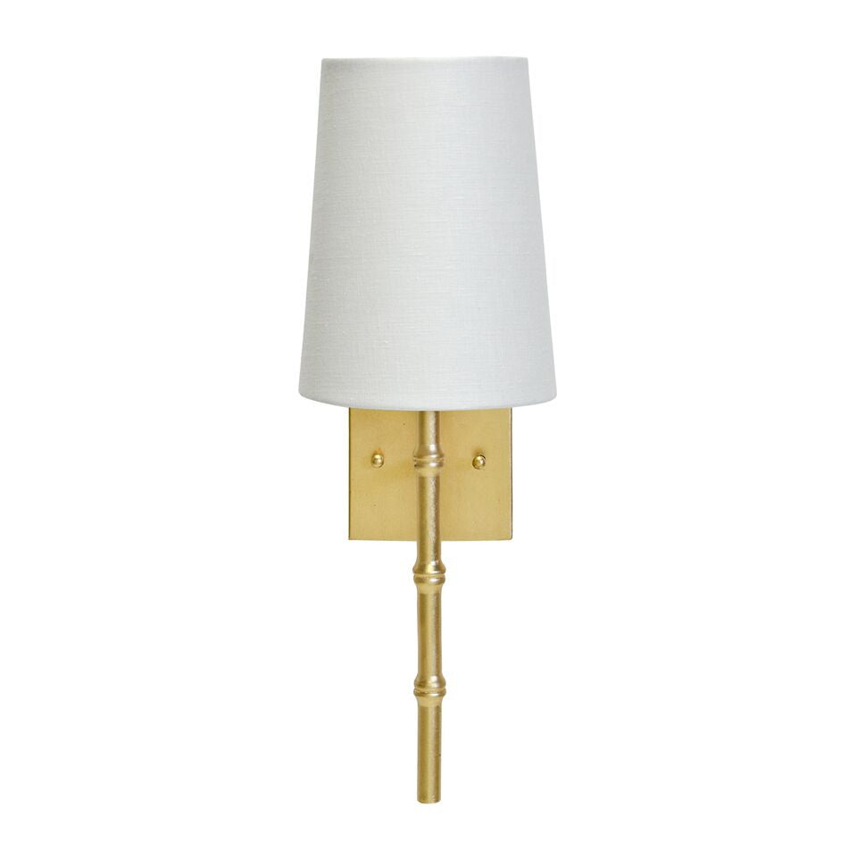 worlds away molly wall sconce gold leaf bamboo lighting wall