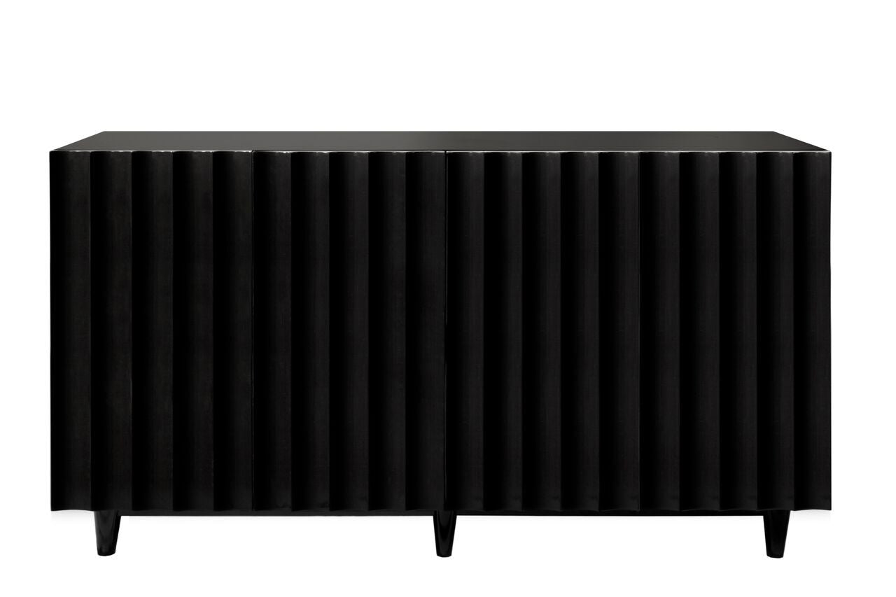 worlds away odette cabinet black lacquer 4 doors media cabinet