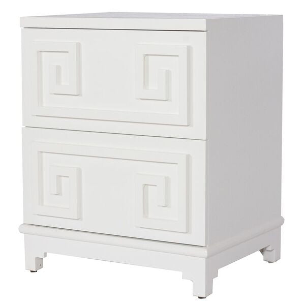 worlds away pagoda nightstand white lacquered PAGODA WH furniture