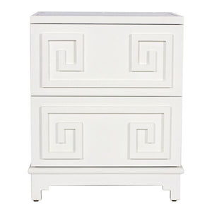 worlds away pagoda nightstand white lacquered PAGODA WH furniture side table nightstand