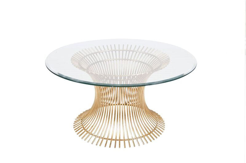 worlds away powell 30 coffee table gold leaf round beveled glass top