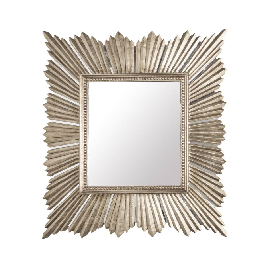 worlds away raymond silver leaf champagne wall mirror