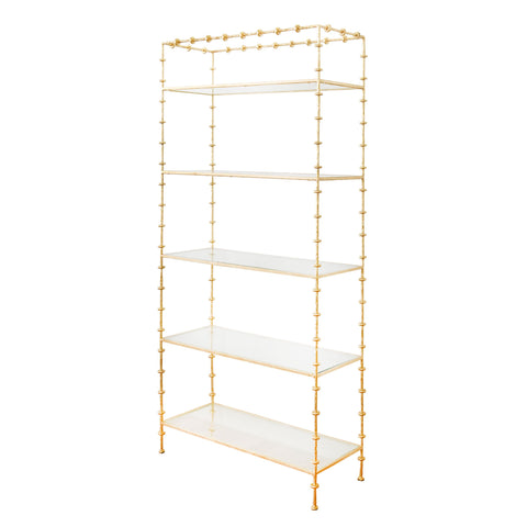 worlds away addie etagere gold leaf