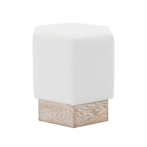 worlds away asher stool white linen cerused oak