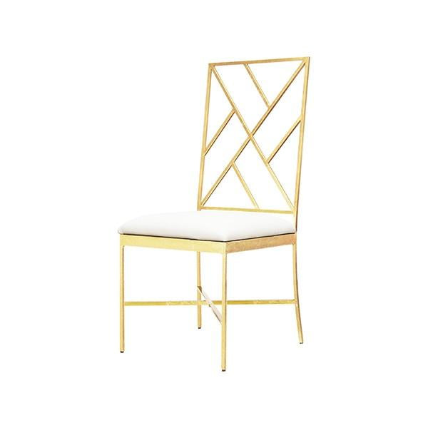 worlds away ashton chair gold white dining room office desk