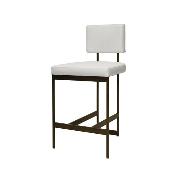 Remarkable Baylor Counter Stool Bronze And White Vinyl Gmtry Best Dining Table And Chair Ideas Images Gmtryco