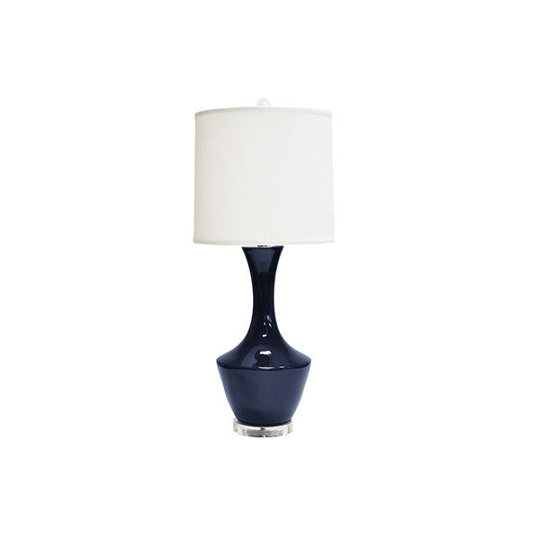 worlds away bridget table lamp navy white shade blue