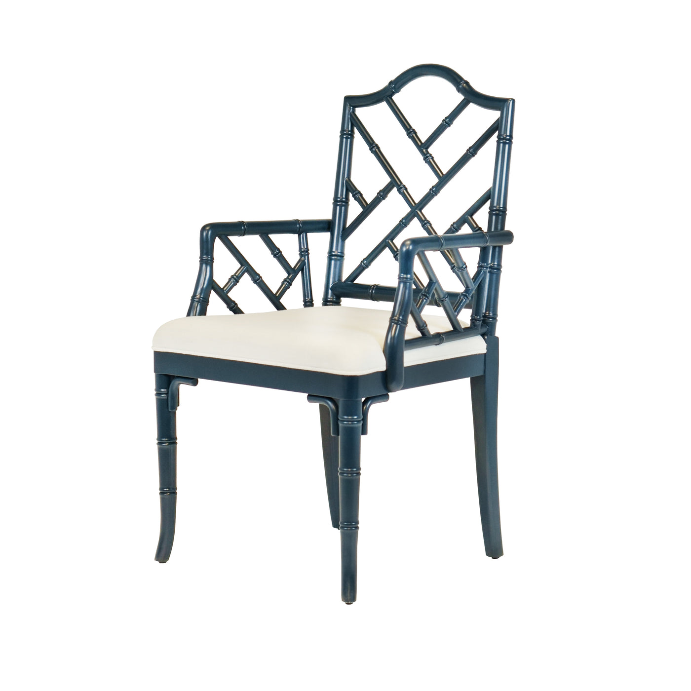 worlds away bristol arm chair navy angle