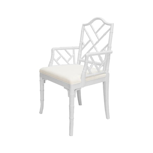 worlds away bristol arm chair white lacquer