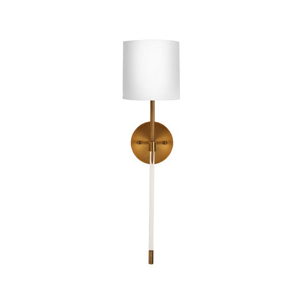 worlds away bristow sconce antique brass acrylic