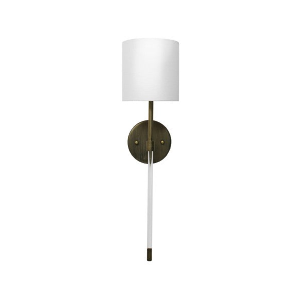worlds away bristow wall sconce bronze acyrlic