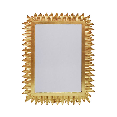 worlds away caesar rectangular wall mirror gold leaf
