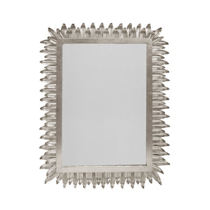 Caesar Rectangular Mirror Silver Leaf