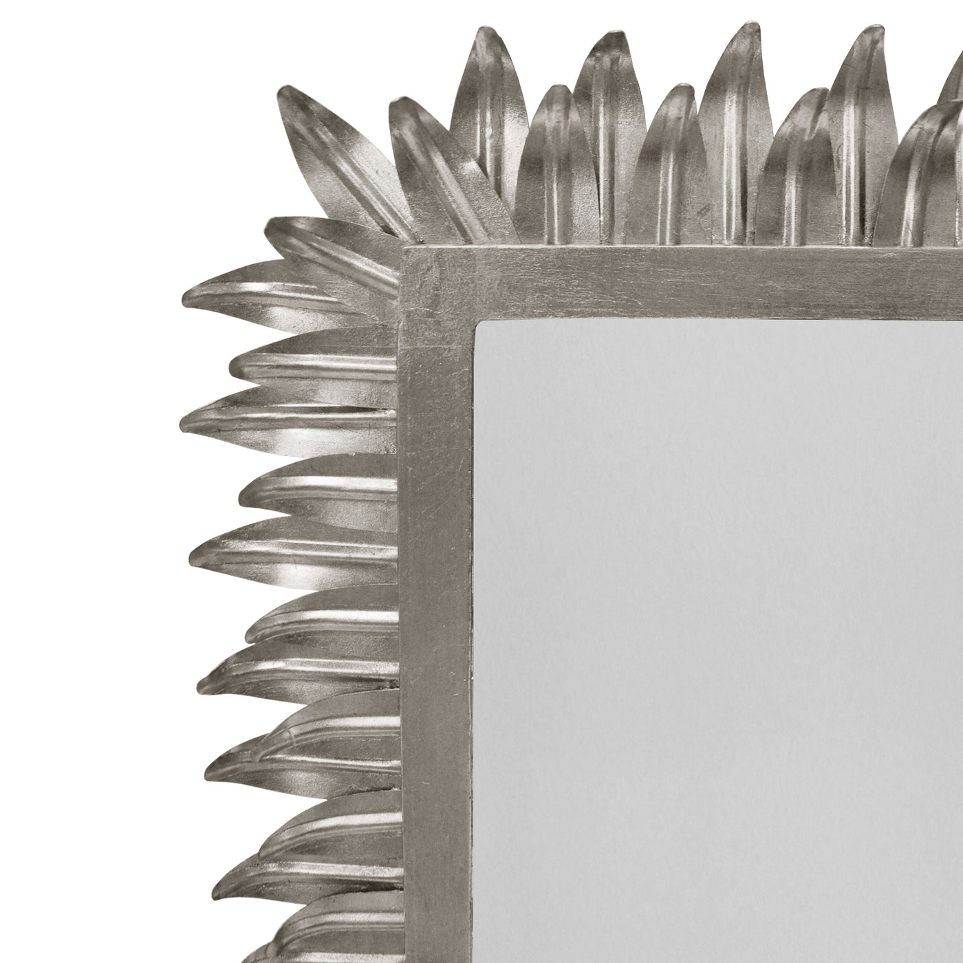 worlds away caesar rectangular mirror silver leaf detail